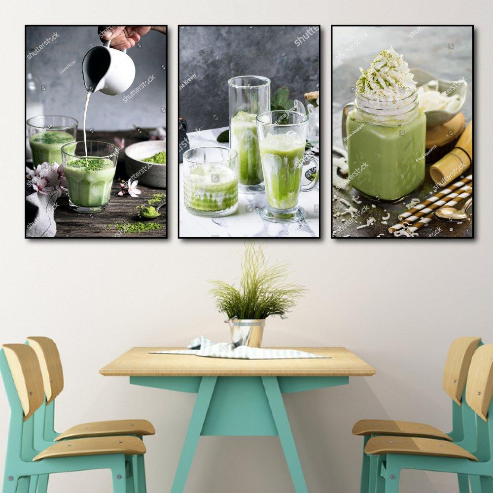 Tranh treo tường matcha trà xanh