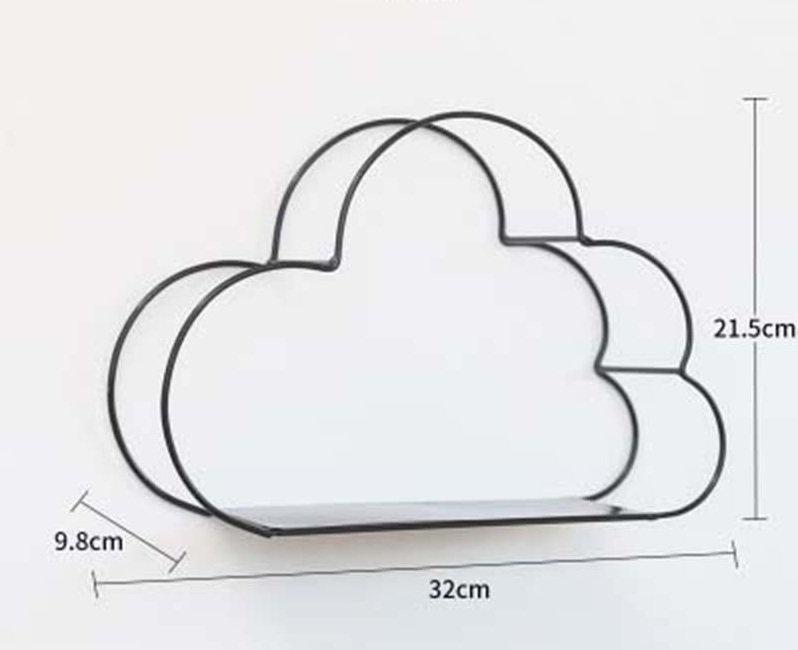 Kệ Gỗ Khung Sắt Trang Trí Hình Đám Mây