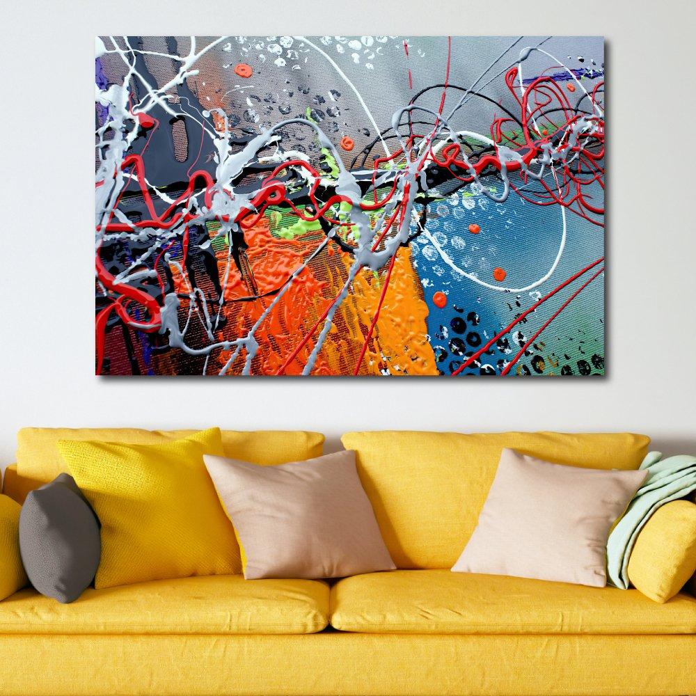 Tranh treo tường nghệ thuật màu sắc 4