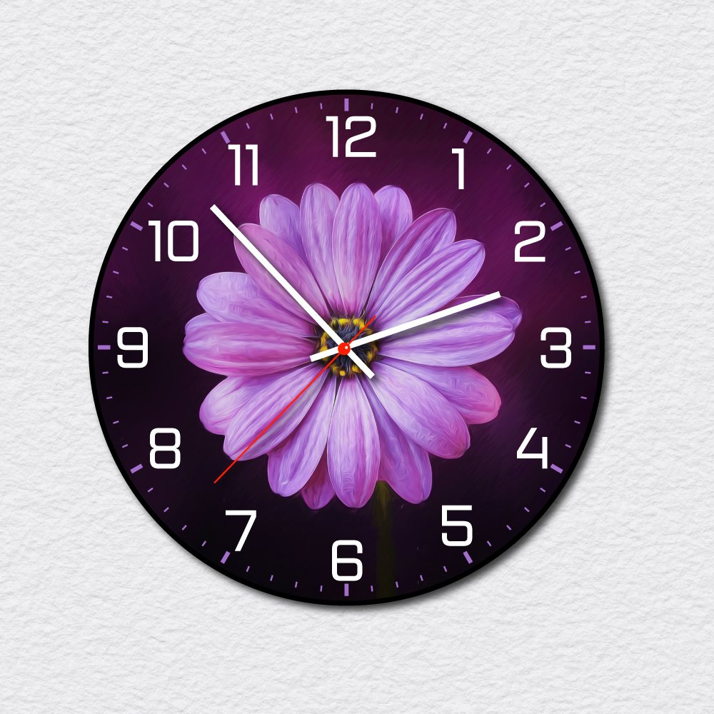 Đồng hồ vintage hoa tím