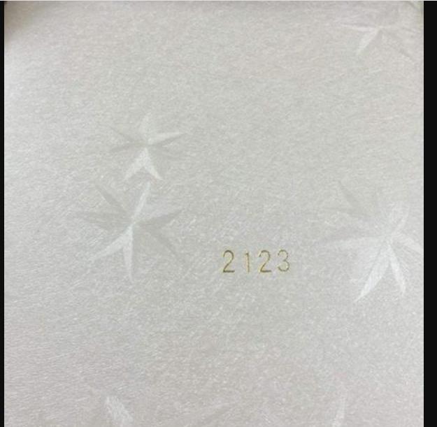 Decal cuộn kính mờ họa tiết ngôi sao