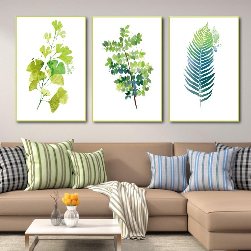 Tranh treo tường lá xanh nghệ thuật 2