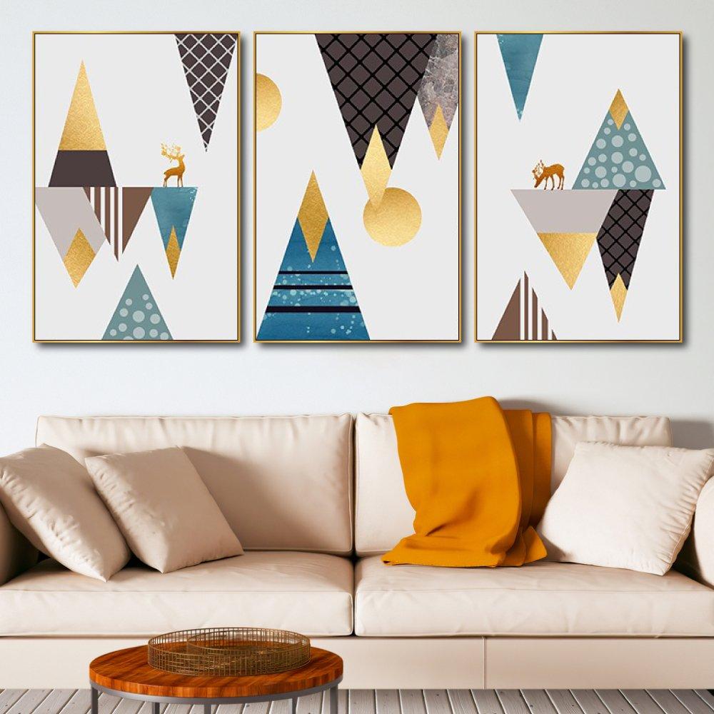 Tranh treo tường nai vàng nghệ thuật 4