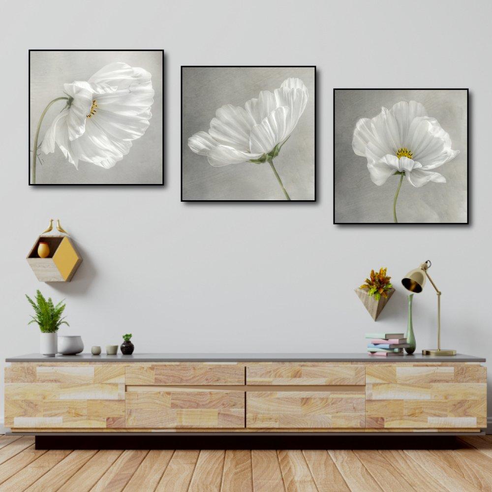 Tranh treo tường hoa trắng tinh khôi