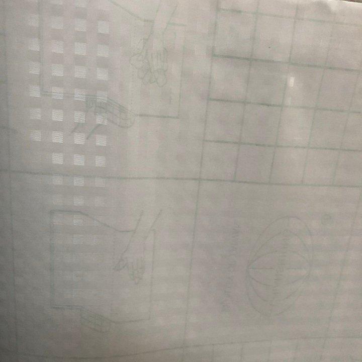 Decal cuộn kính mờ ô vuông sọc khổ 1.2m