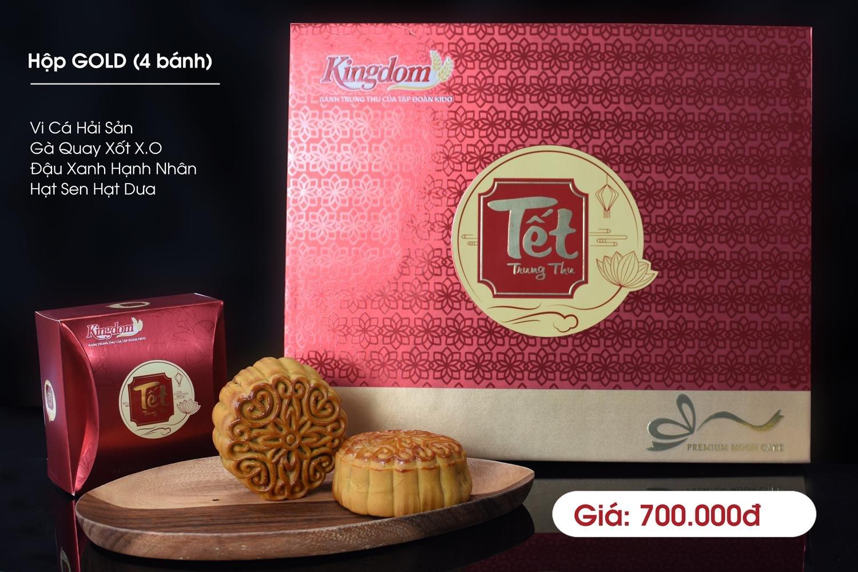 Bánh Trung Thu Kingdom Gold 4 Vị