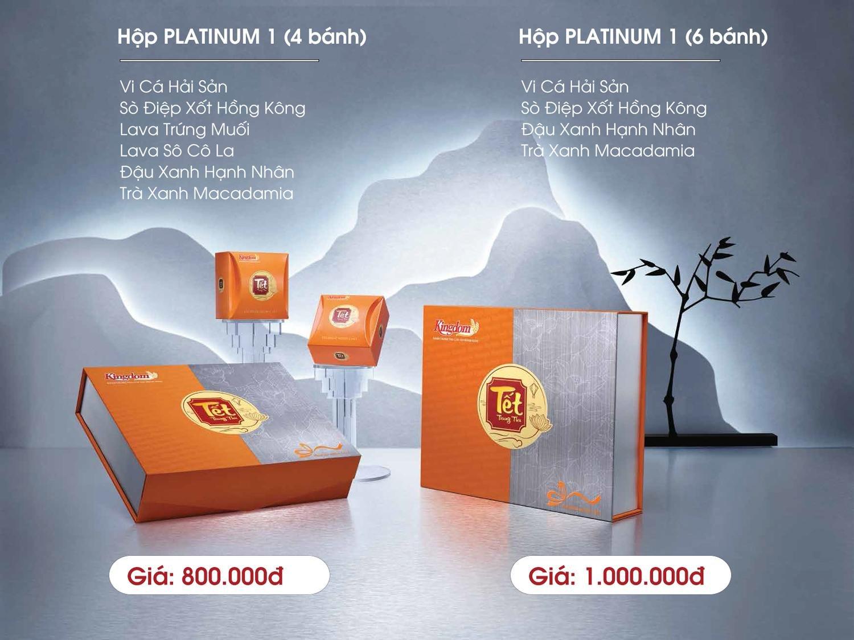 Bánh Trung Thu Kingdom Platinum 4 Vị