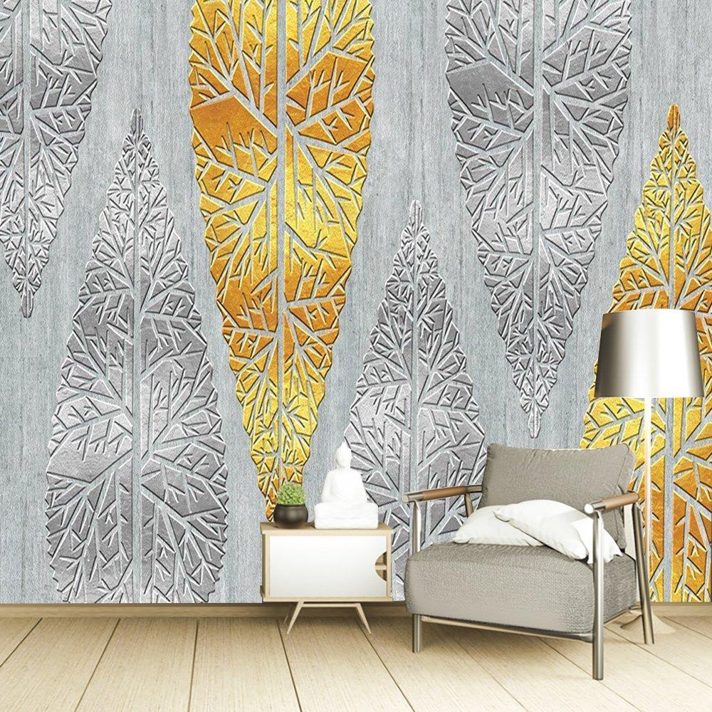 Tranh dán tường lá vàng lá bạc