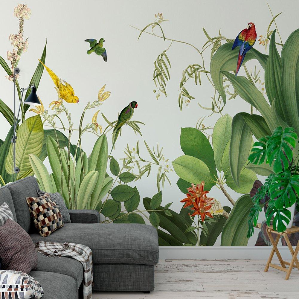 Tranh dán tường 3d rừng nhiệt đới 2