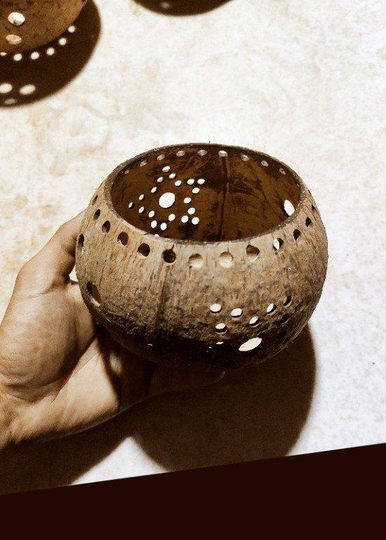 Lồng đèn trung thu gáo dừa nâu 15