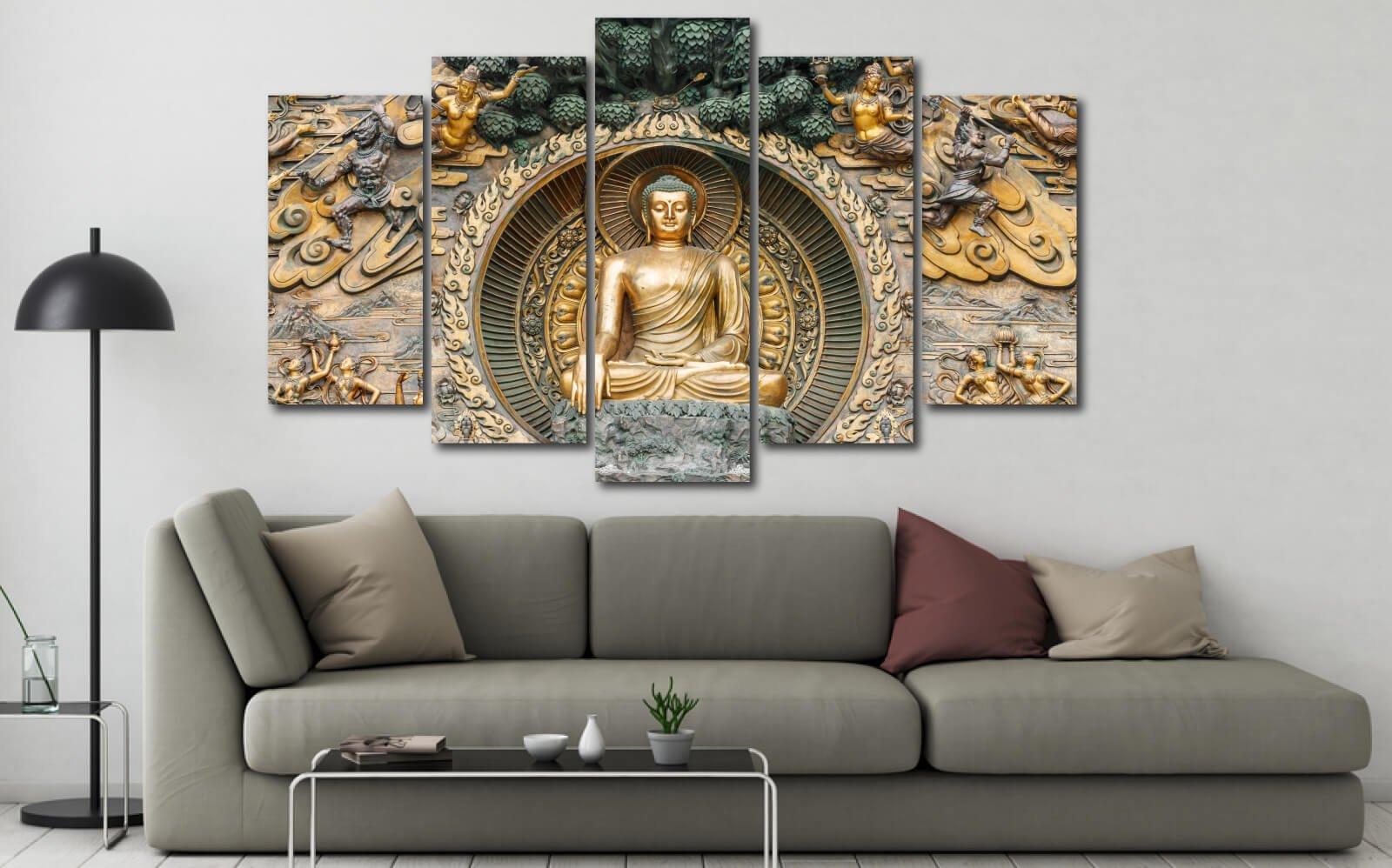 Tranh Phật giáo mang đến sự thanh thản trong tâm hồn sau những xô bồ ngoài xã hội, xua tan muộn phiền, giúp tinh thần an yên mỗi khi ta ngắm nhìn