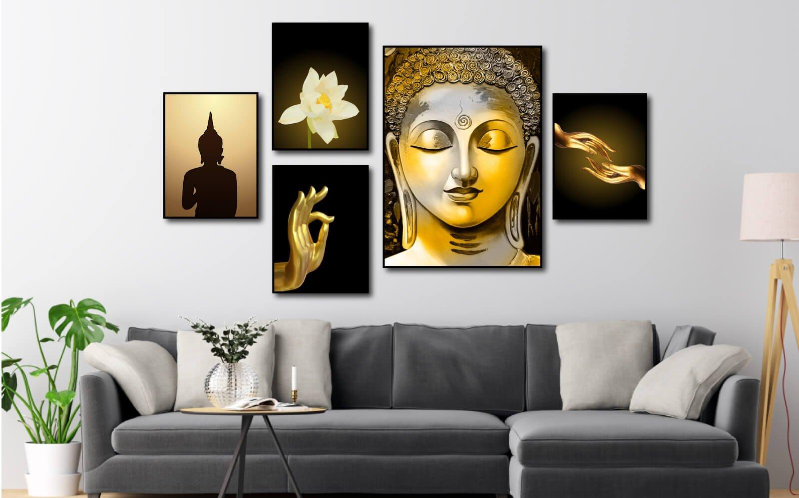 Tranh thiết kế ốp sát tường khi treo, tạo vẻ đẹp sang trọng phù hợp với mọi không gian
