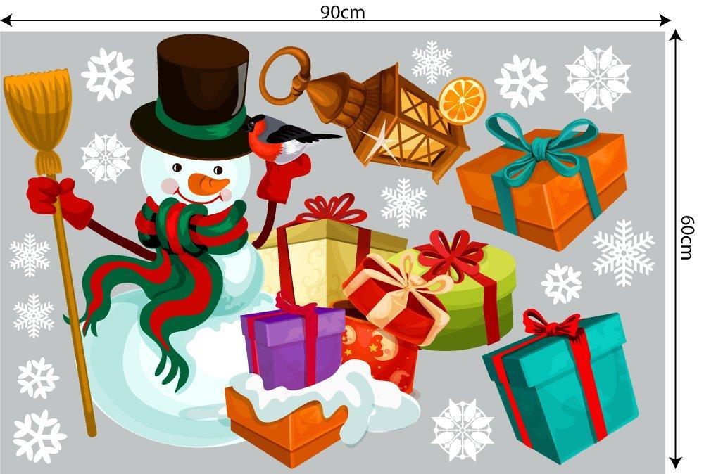 Decal trang trí combo Merry Christmas và cây thông noel