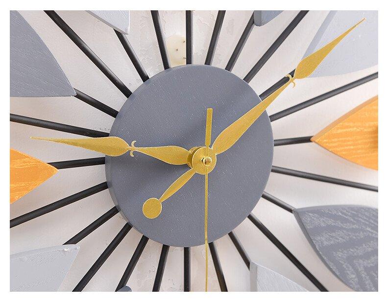 Đồng hồ treo tường chiếc lá gỗ