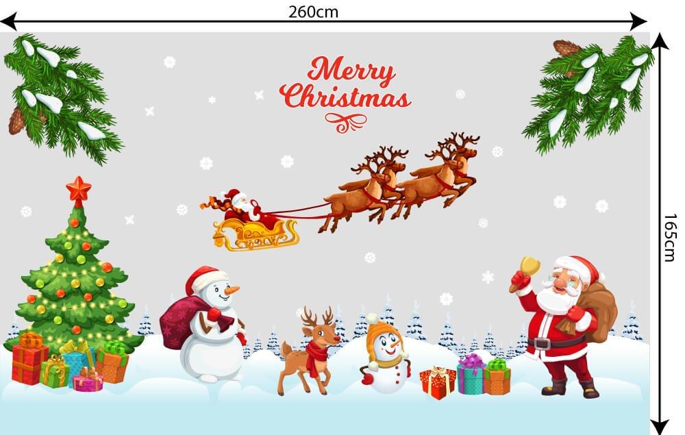 Decal trang trí Noel trên cửa kính tại Lala Shop