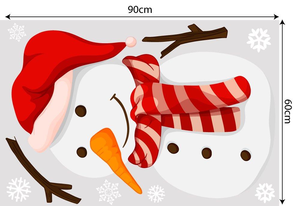Decal trang trí combo Merry Christmas và hộp quà 2021