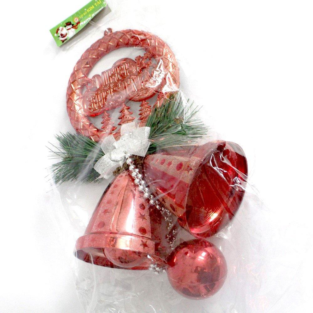 Đồ trang trí noel vòng treo chuông và quả châu