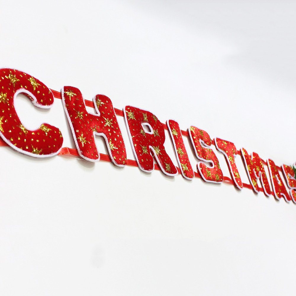 Đồ trang trí noel dây treo merry christmas 1,5 tất
