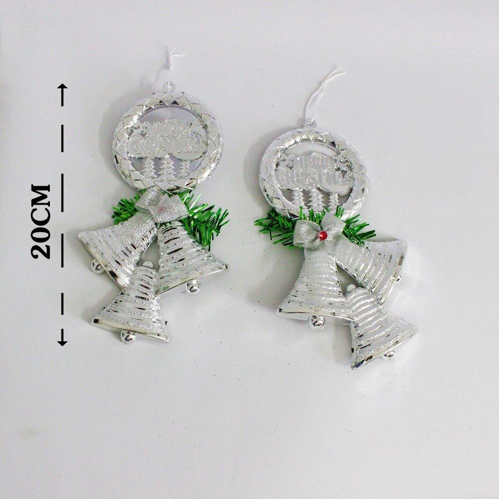 Vòng treo trang trí noel merry christmas và 3 chiếc chuông