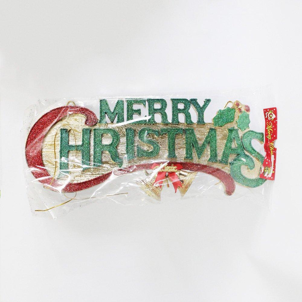 Bảng treo merry christmas và chuông