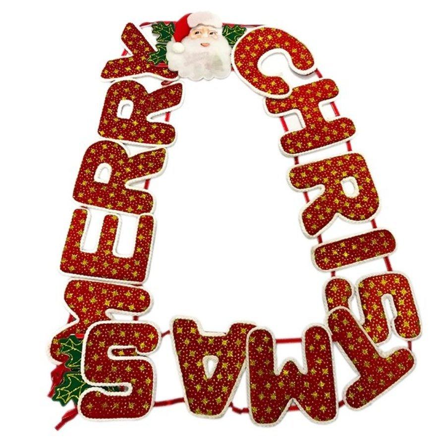 Đồ trang trí noel dây treo merry christmas 8 phân