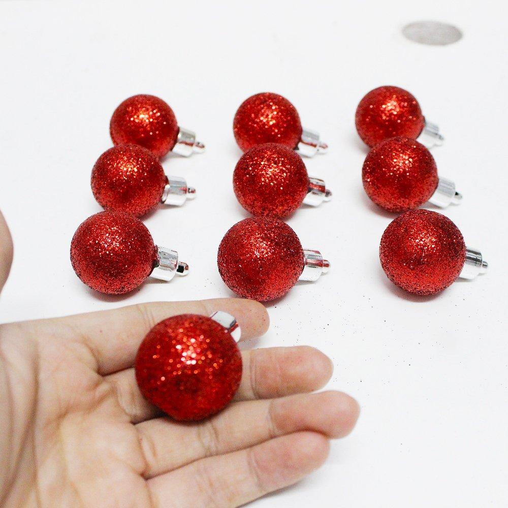 Đồ trang trí 10 quả châu kim tuyến size 3cm