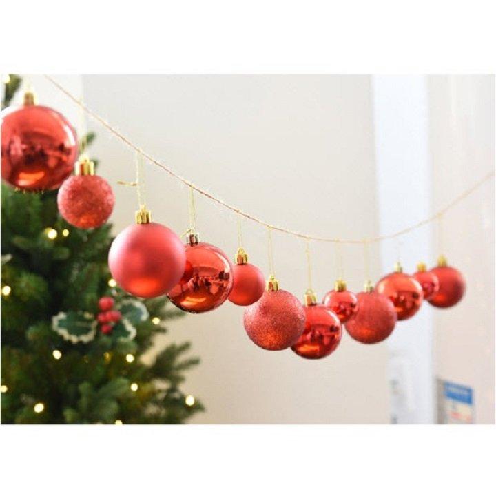 Đồ Trang Trí Noel 6 Quả Châu Mờ 6cm