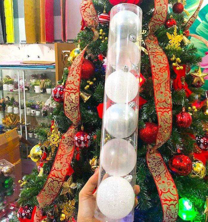Đồ Trang Trí Noel hộp 6 trái châu trang trí