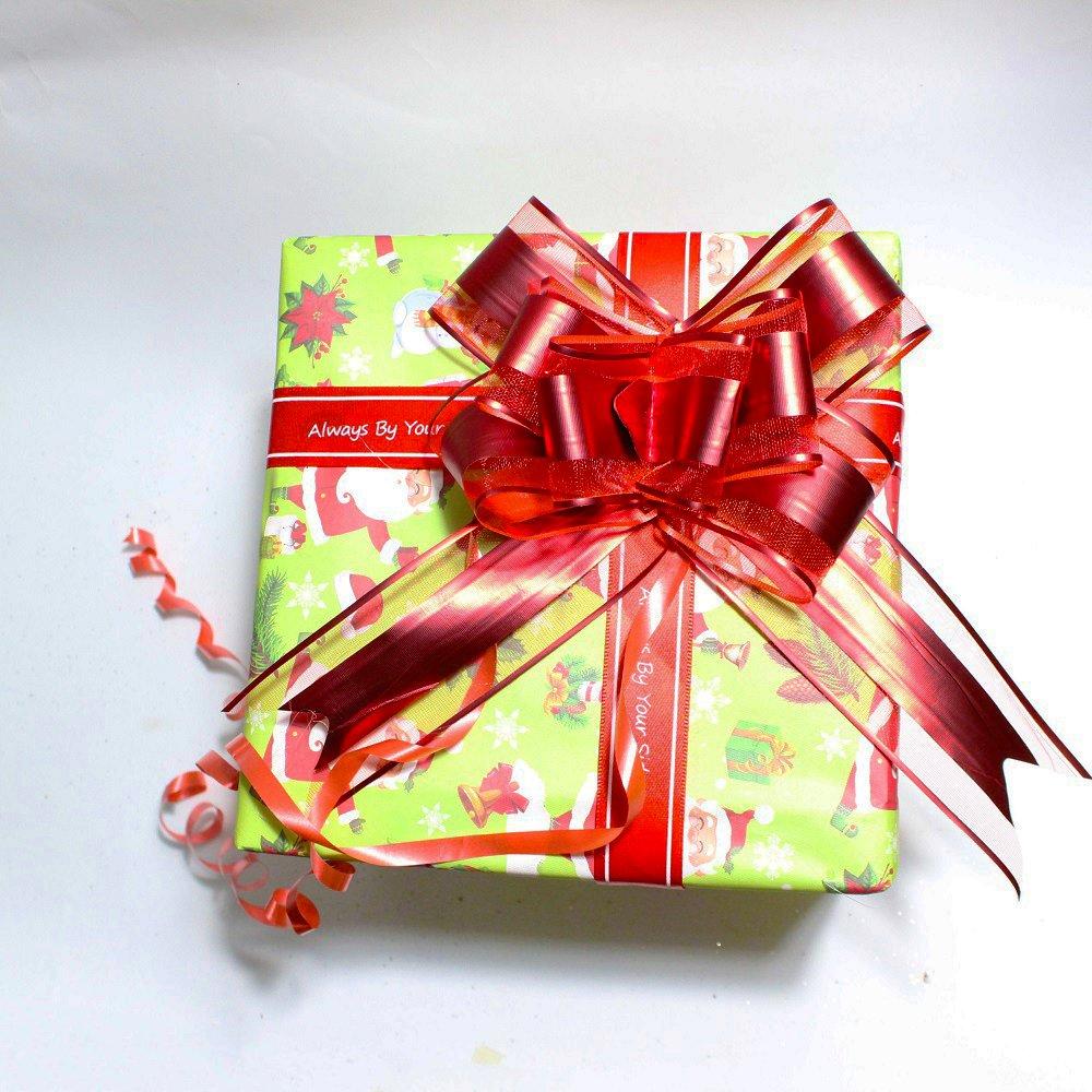 Đồ trang trí noel hộp quà đỏ hình vuông nhỏ