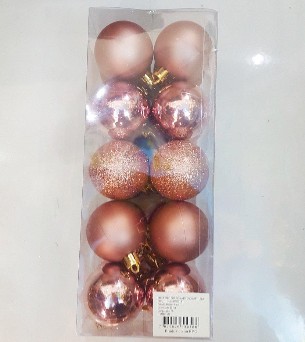 Bộ quả châu nâu đẹp trang trí noel
