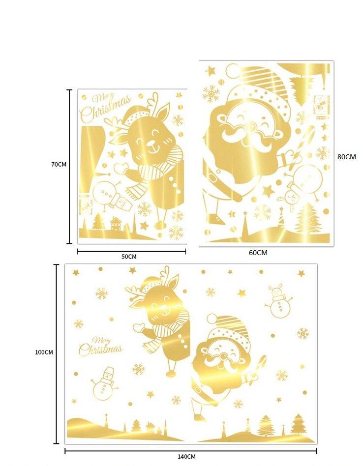Combo decal trang trí lễ hội Giáng sinh tuần lộc 2021