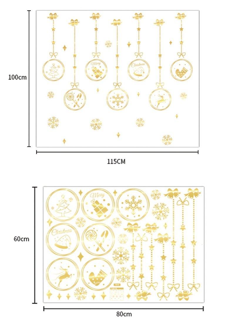 Decal Trang Trí Cửa Kính Dây Treo Giáng Sinh an lành 2021