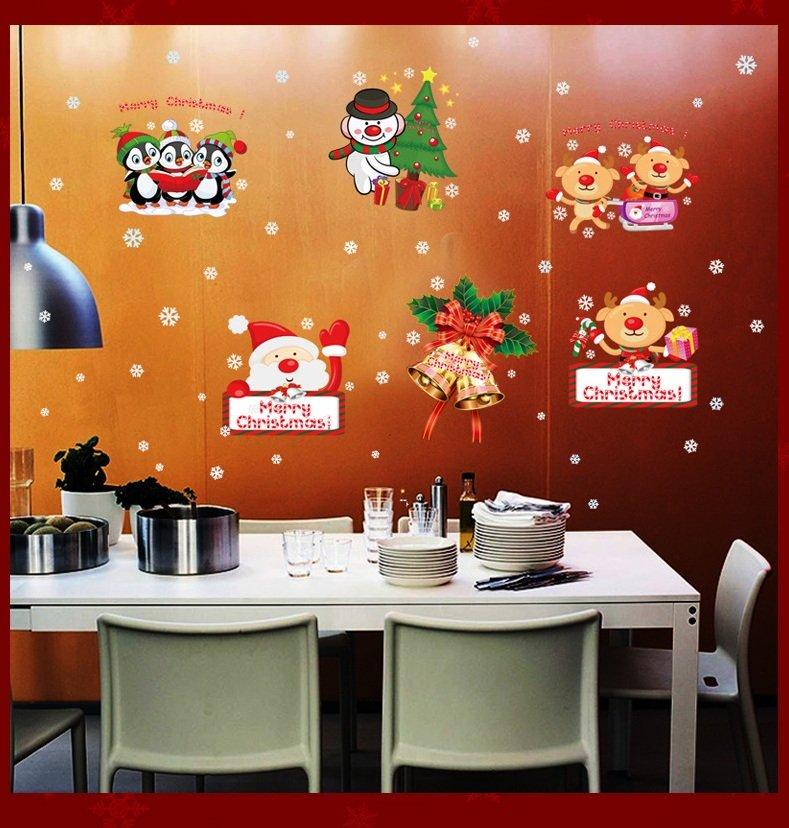 Decal trang trí noel Giáng sinh an lành mẫu 4