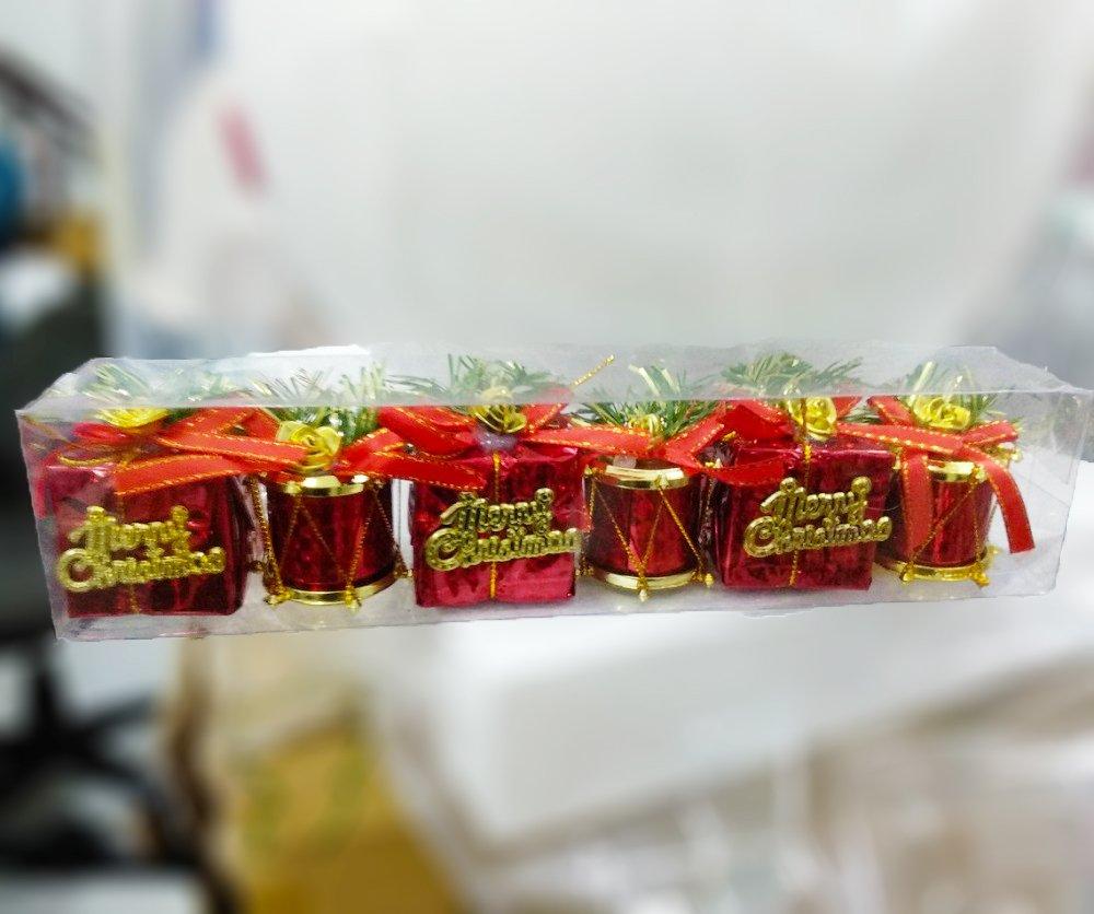 Combo hộp quà đỏ treo trang trí noel