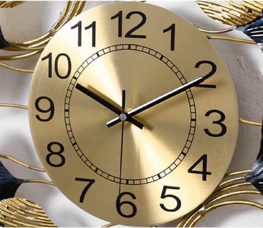 Đồng hồ đính đá treo tường lá rẻ quạt 5