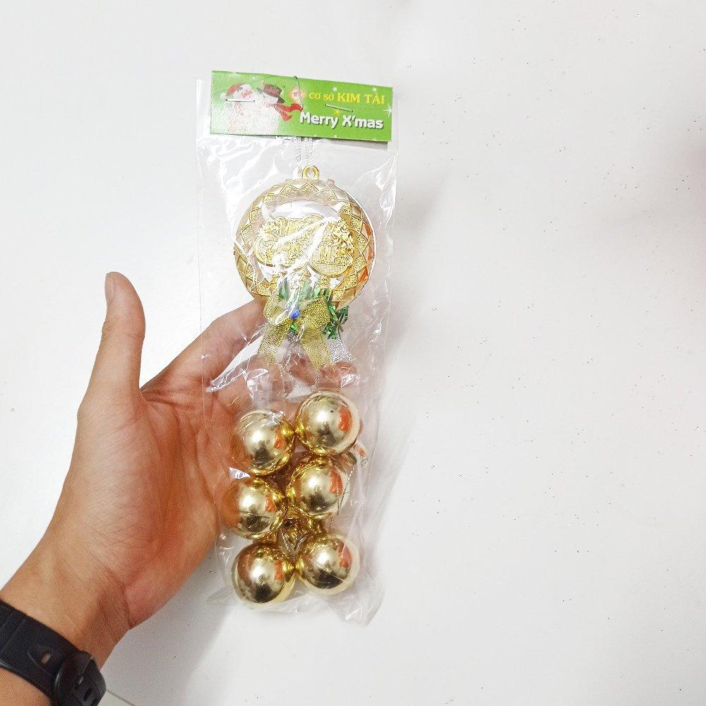 Vòng treo merry christmas 6 quả châu