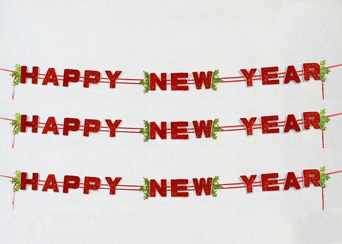 Dây treo happy new year trang trí tết