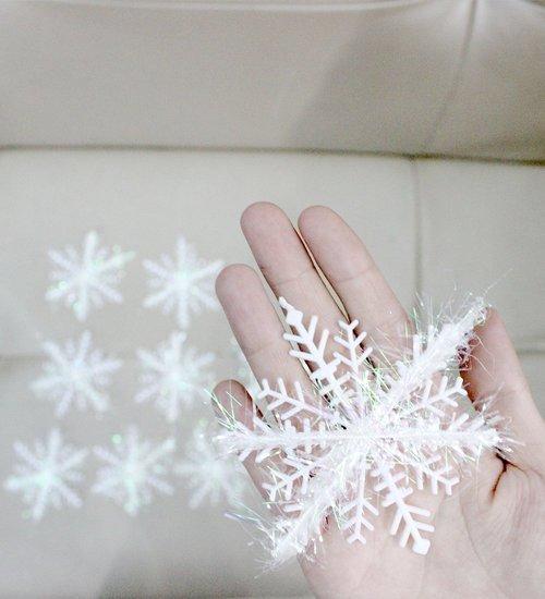 Combo 15 bông tuyết kim tuyến size 18cm trang trí noel