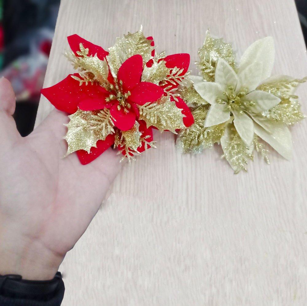 Hoa trạng nguyên size trung trang trí Noel