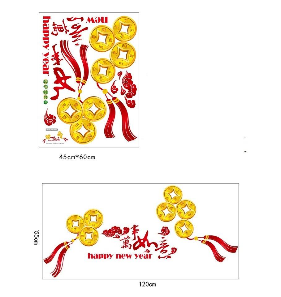 Decal tết đồng tiền vàng 2
