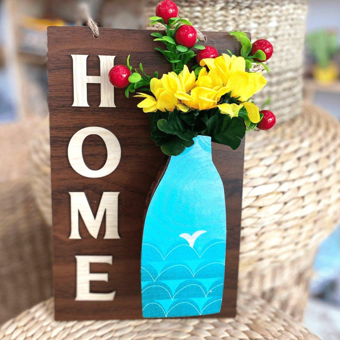 Bảng gỗ handmade trang trí nhà Home mẫu 07