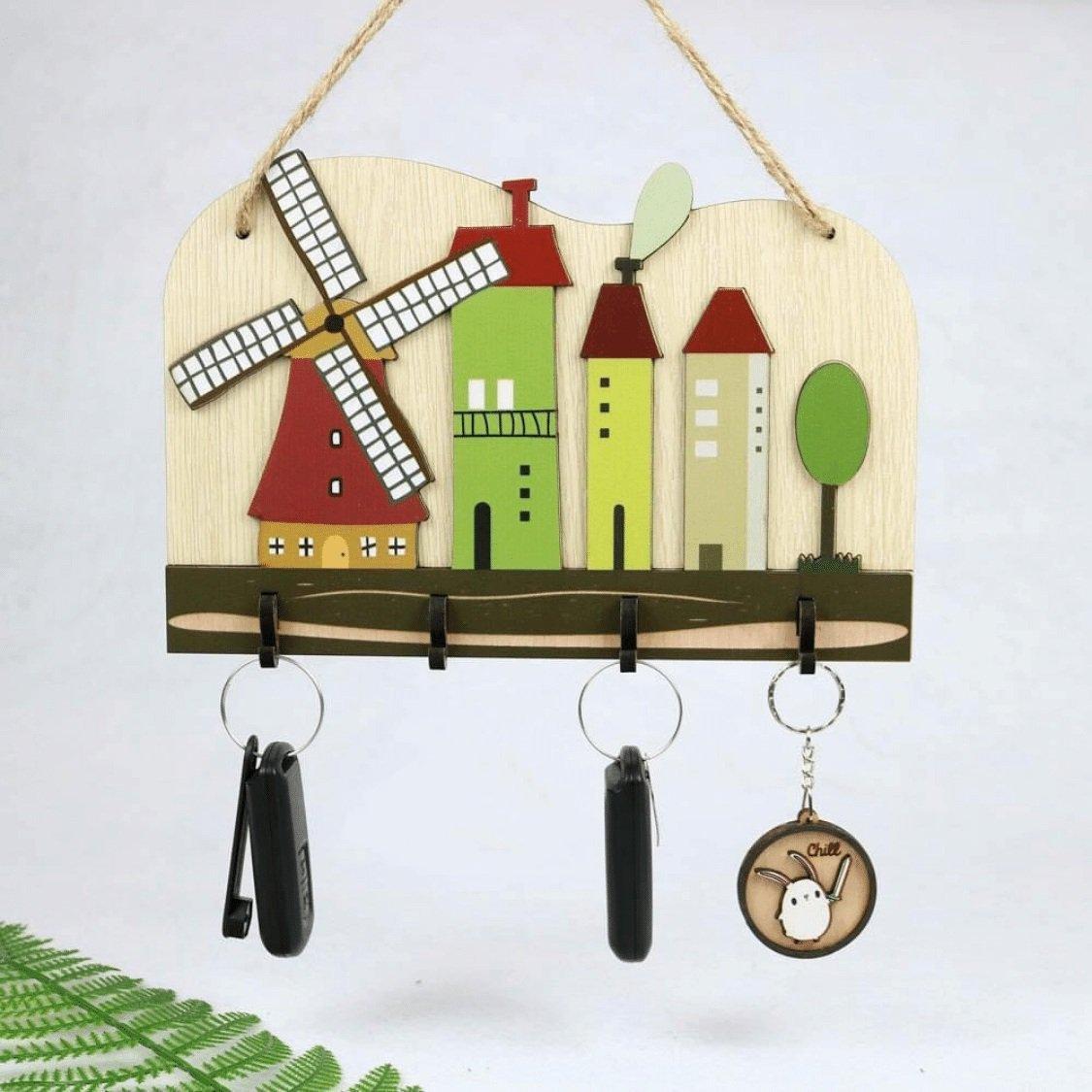 Bảng treo handmade cối xoay gió