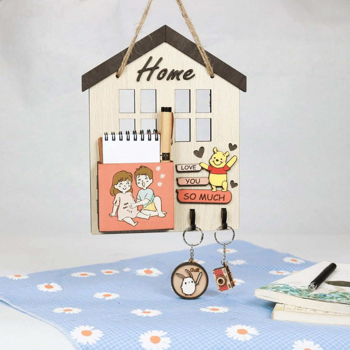 Bảng treo handmade Home love you so much