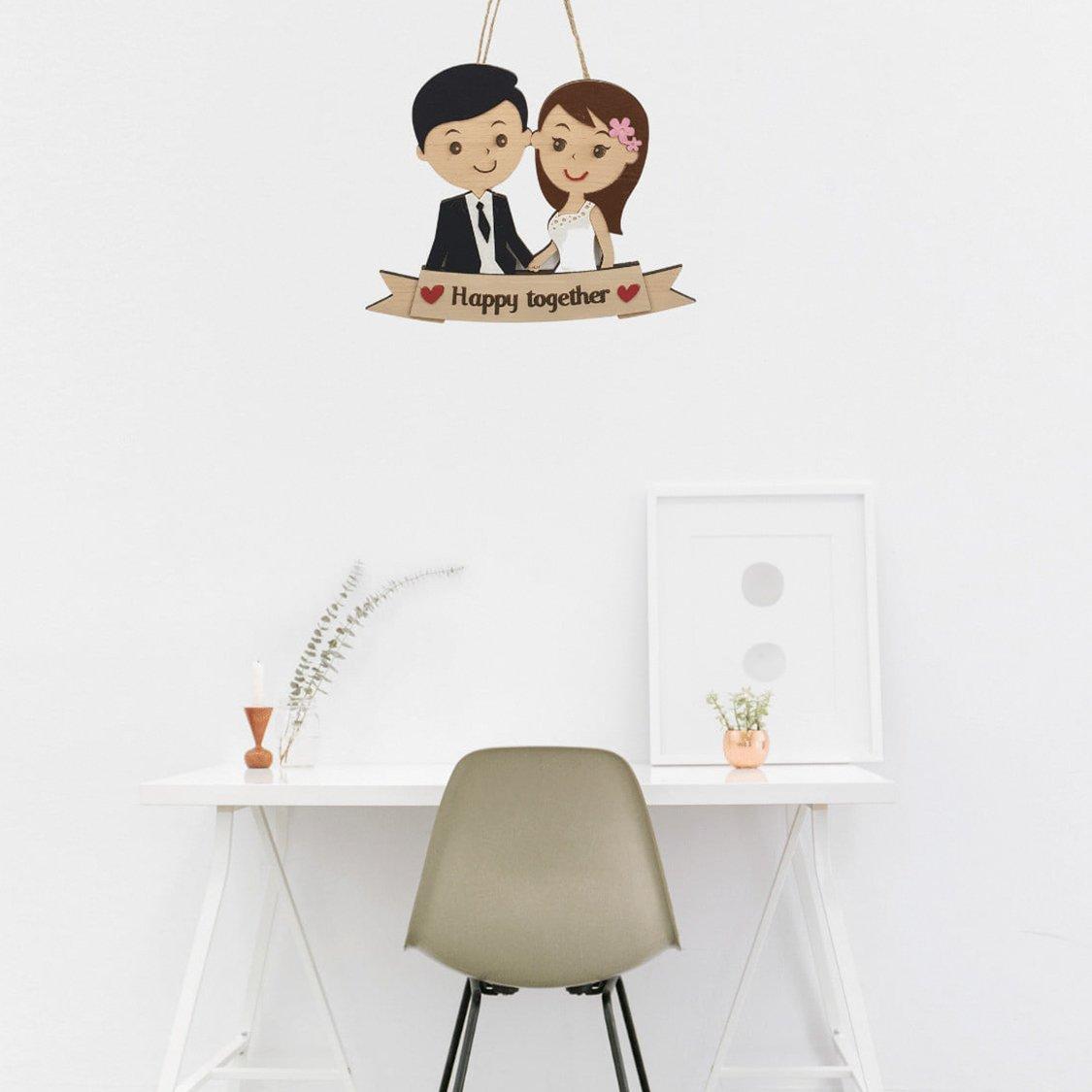 Bảng gỗ handmade trang trí Happy Together