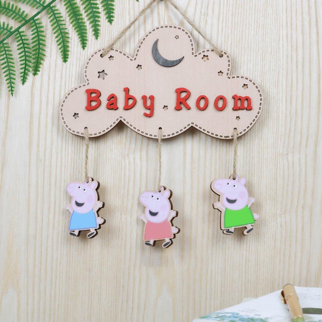 Bảng gỗ treo tường trang trí nhà Baby room mẫu 5