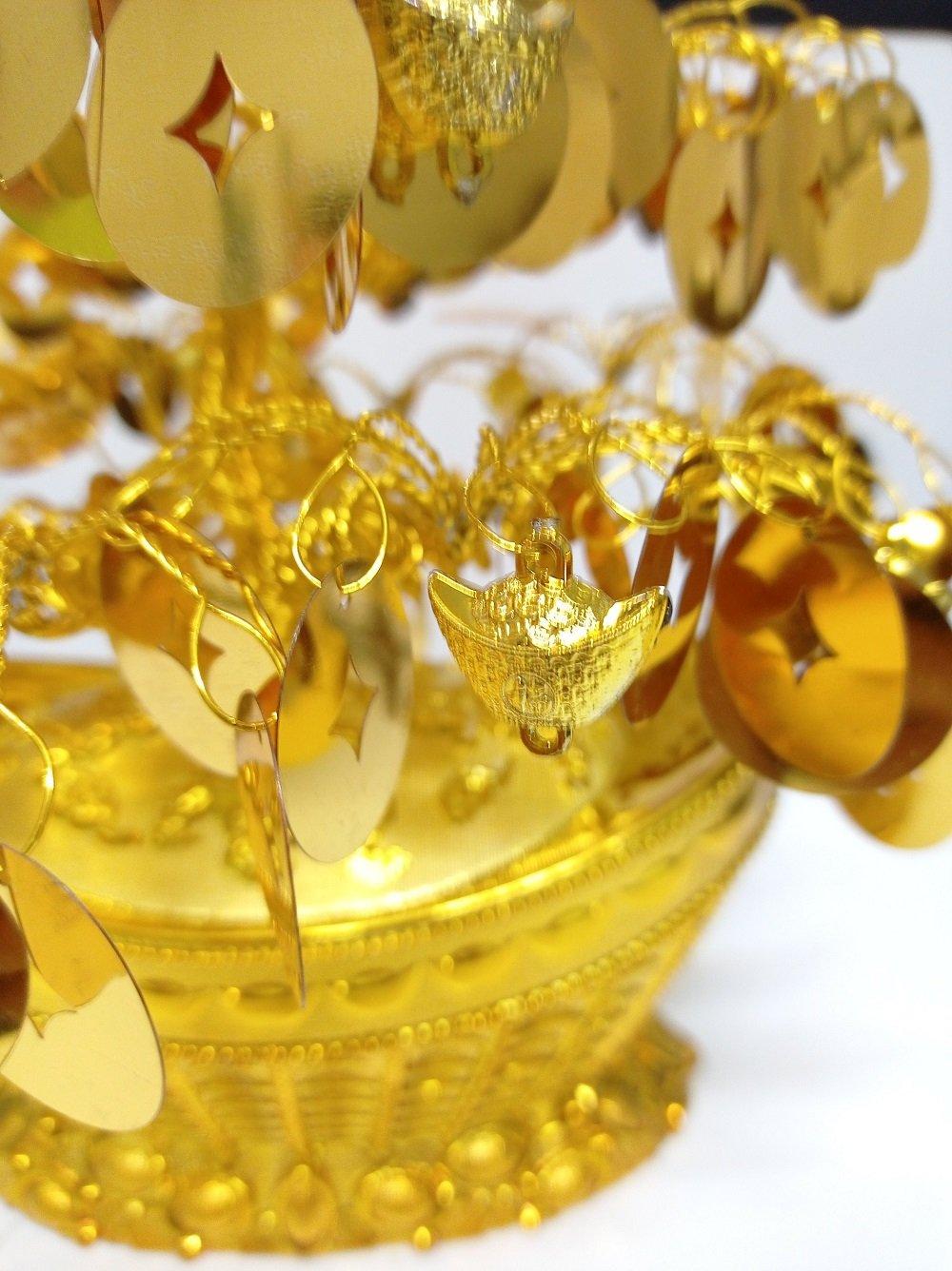 Cây phát tài vàng lá đồng tiền trang trí tết