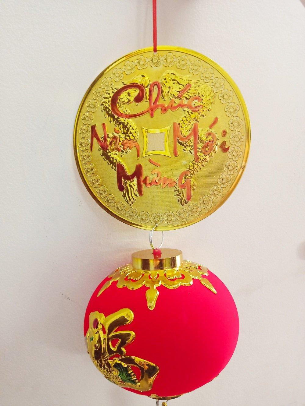 Dây lộc treo Đồng tiền vàng và Lồng đèn đỏ
