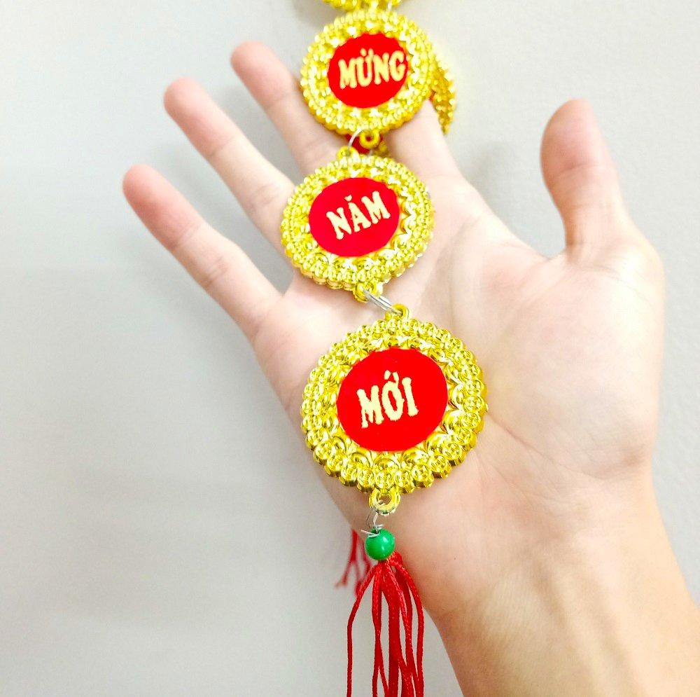 Dây lộc treo Đồng tiền vàng Chúc mừng năm mới 01