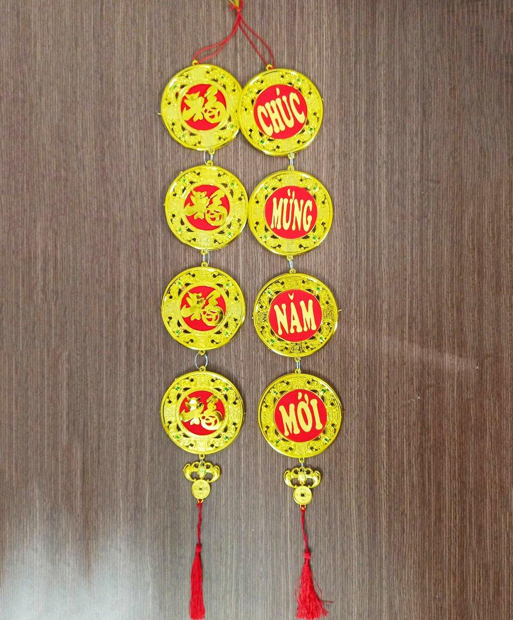 Dây lộc Đồng tiền vàng trang trí tết 08