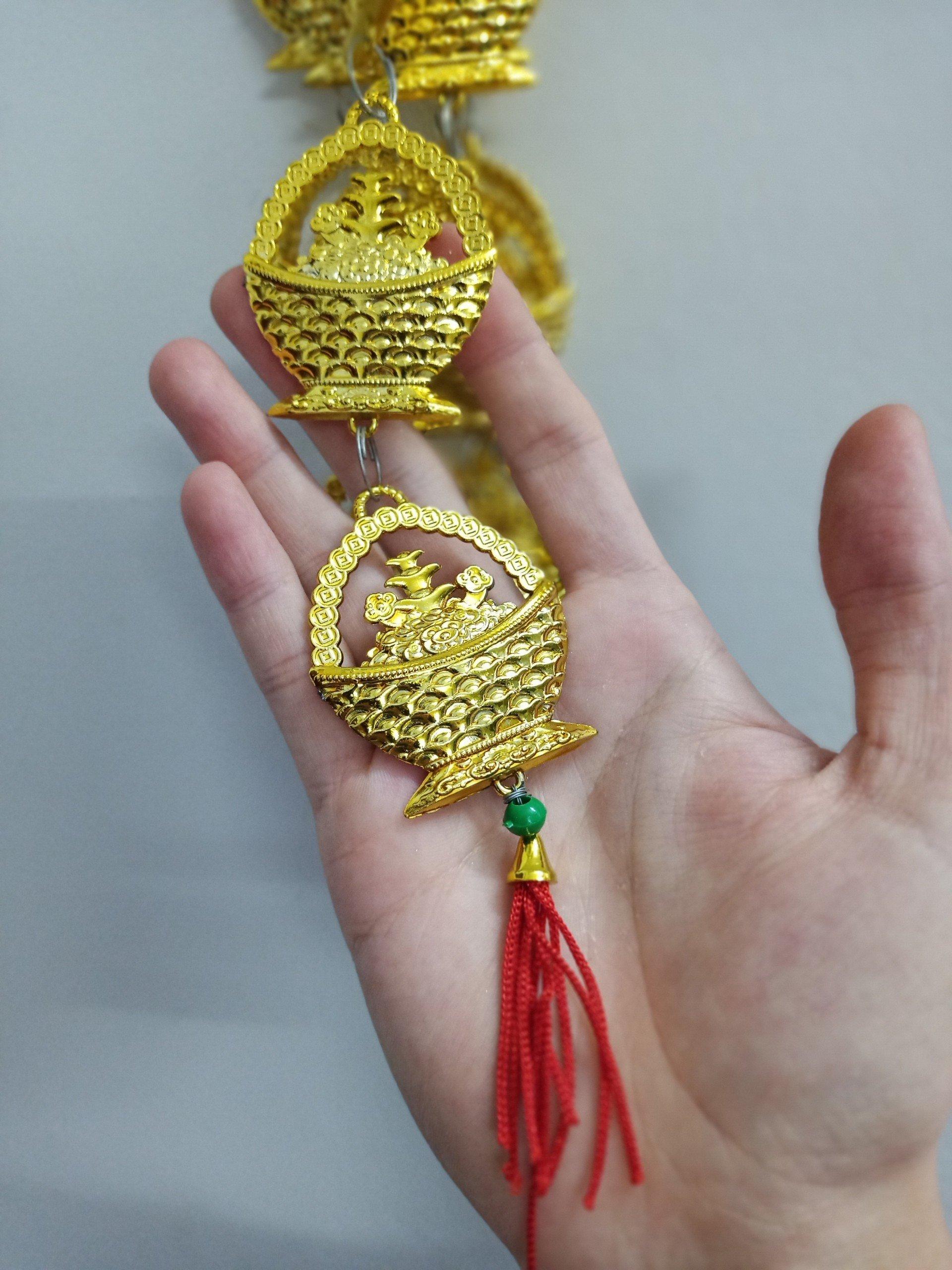 Dây lộc treo trang trí tết Giỏ vàng sung túc